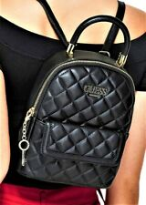 NWT GUESS CATALINA 2-Way BACKPACK BAG & SHOULDER HANDBAG Black Logo GENUINE