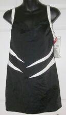 New Avenue Wms Black & White 1pc Swimsuit Dress Size 14
