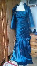 Robe de bal/robe de mariage & Cropped Veste par Jade Couture. Sz.12. BN