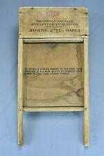 Antique GSW PEARL ENAMEL GRANITE WASHBOARD PRIMITIVE LAUNDRY WASHTUB HTF #08336