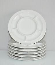 Thomas Scandic weiß Fondueteller Teller neuw. 6 x da Raclette Antipasti Gril