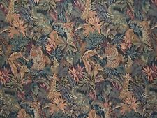 """Kravet """"Peaceful Kingdom Tapestry"""" vintage fabric by the yard multicolored"""