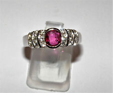 ANELLO ORO 18KT DIAMANTI RUBINO gold ruby diamond ring bague en diamant rubis OR