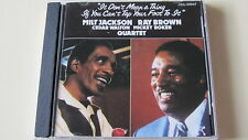MILT JACKSON RAY BROWN IT DON'T MEAN A THING JAPAN PABLO J33J 20047 1st PRESSING