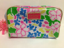 New Estee Lauder Lilly Pulitzer Floral Cosmetic Bag Makeup Pouch