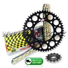 Kawasaki KX125 1994-2008 Regina RX3 PRO Chain And Black Renthal Sprocket Kit