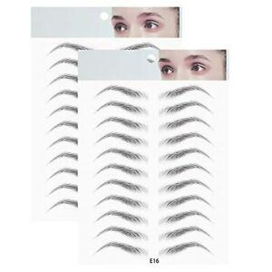 2 pcs Real eyebrows like 3D hair, Waterproof fake tattoo eco natural tattoo Eyeb