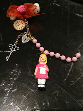 Les Nereides Baby doll with key for her heart brooch mixed pin New pink