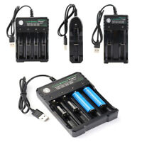 3.7V Battery Charger Case Box Lithium Ion USB Rechargeable for LED Flashlight
