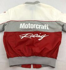 Ford Motorcraft Racing Jacket Satin Full Zip Mens M Medium Vintage