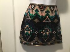 VERTY  Ladies Sequin Multi Color Fully Lined Mini Skirt Size Small