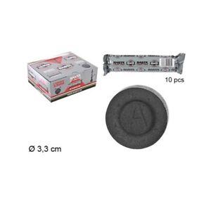 10 Pastilles de Charbon Noir 33mm pour Chicha Narguilé Hookah