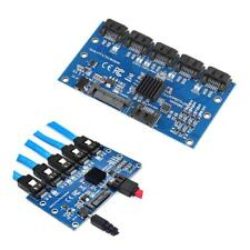 SATA Expansion Card 1 to 5 Port SATA3.0 Controller SATA Port Riser Card Adapter
