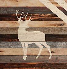 Standing Buck Deer Rustic 18 x 17 Wood Pallet Wall Art Sign Plaque