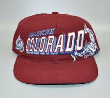 Colorado Avalanche Sports Specialties Grid NHL Vintage 90s Snapback Cap Hat