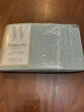 Wamsutta Full Fitted Sheet  Gingham Home Pattern New