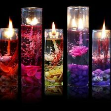 Fashion Glass Bottles Ocean Theme Smokeless Jelly Wax Wedding Party Gel Candles