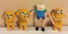 "adventure time Lot Of 4 Mcdonalds Toys Figures 4""-5"""