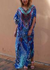 Relax Fit Bohemian Long Sheer Side Split Embellished Kaftan/Dress Size 16-18-20