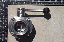 "2"" butterfly valve, tri-clamp ends, stainless steel,"