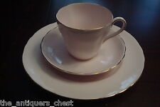 Royal Tuscan England - Trio cup & saucer & dessert plate, Pink and Gold[4-2c*]