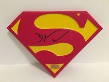 "DEAN CAIN AUTOGRAPHED SIGNED  10X8 ""SUPERMAN""  RESIN EMBLEM PSA DNA COA"