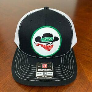 Skoal Hat Patch Sewn On Richardson 112 Trucker Hat Snapback - Black, White