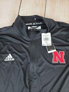 Nebraska Cornhuskers 1/4 zip pullover jacket black XXL 2XL NWT $75 Quarter Zip