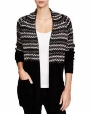 C by Bloomingdale's V 82  Black/Gray Fair Cardigan Size L