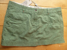 FAT FACE APPLE GREEN PRINTED IKAT UTILITY MINI SKIRT THICK COTTON 16 BNWT