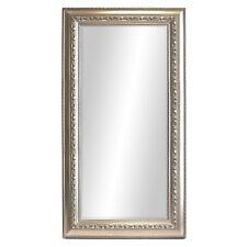 Großer Wandspiegel Barspiegel Spiegel mit Facettenschliff 170x70cm Silbergold