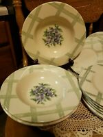 Pfaltzgraff GARDEN PARTY Set of 15 *Wide Rimmed Soup Bowls & Salad Plates & Xtra