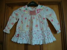 NEXT.  MULTI COTTON EMBROIDERED TUNIC TOP.  AGE 18/24 MONTHS. 92CM
