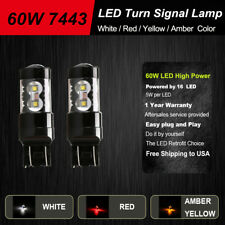 Front Turn Signal Light Canbus Bulbs 60w 7443 T20 12SMD For 2015-2016 Subaru WRX