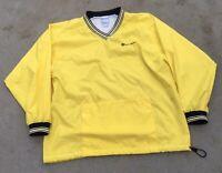 Men's Retro Champion Spell Out Yellow Pullover Windbreaker Size Large