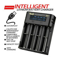 4Slot USB Battery Charger For 18650 21700 26650 Lithium AA AAA Nimh Battery