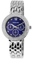 Excellanc Damenuhr Blau Silber Strass Chrono-Look Analog Metall X152323000010