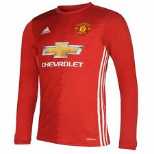 Maillot adidas Manchester United domicile 2016 2017 Home Jersey Long Sleeves NEW