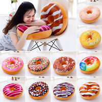 3D Cute Donut Bread Round Soft Throw Pillow Case Cushion Cover Home Sofa Decor