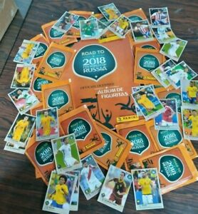 Panini Road to FIFA World Cup Russia 2018 complete + figurines +18  bags packet