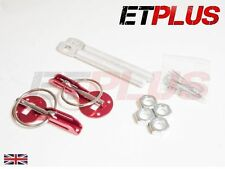 Alloy RED Bonnet Pin kit Race Rally Style Hood pins Track Pair 1st class post!