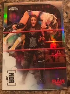 2020 TOPPS WWE CHROME NIA JAX REFRACTOR! PARALLEL CARD #45 FABULOUS DIVA MNT