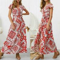 Evening summer sundress dress party Women's floral cocktail long maxi beach boho