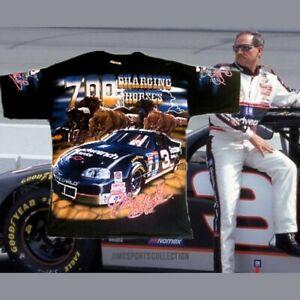 1997 Dale Earnhardt Vintage Chase All Over Print T-shirt L 700 Horses NWOT  (DD)