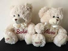 Personalised Teddy Bear Baby Gift Arrival, Mother's Day- see listing for Colours