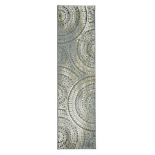 Home Decorators Collection Spiral Medallion Grey 2 x 7 ft. Runner Rug Kitchen