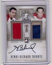 HENRI RICHARD JACQUES LAPERRIERE ITG Lord Stanley's Mug Jersey Auto Autograph 10