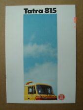 TATRA  Camions  815  models - Modelle  catalogue / brochure / Prospekt  1987.