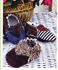 CLEARANCE - PATTERN - Quilted Baby Moccasins - Cute & easy bootie PATTERN