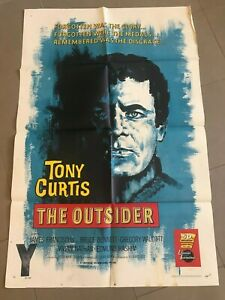 Original 1-Sheet Poster 27x41: The Outsider (1961) Tony Curtis, James Franciscus
